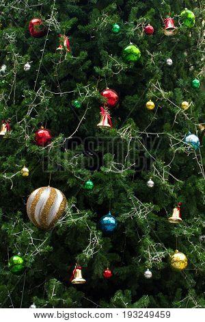 Chrismas tree decoration x'mas holiday for background.