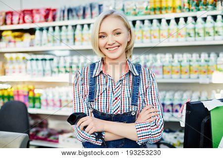 Pretty Girl At Supermarket