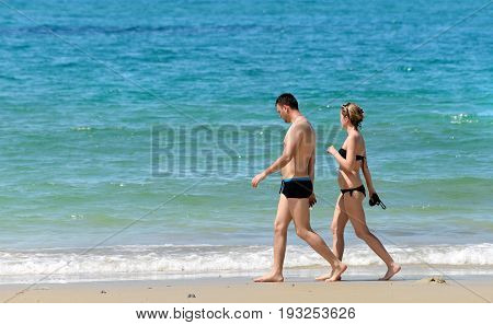 Tourist Attractions On The Beach At Koh Samed