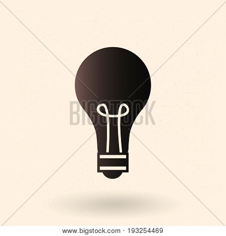 Vector Single Basic Icon - Lightbulb