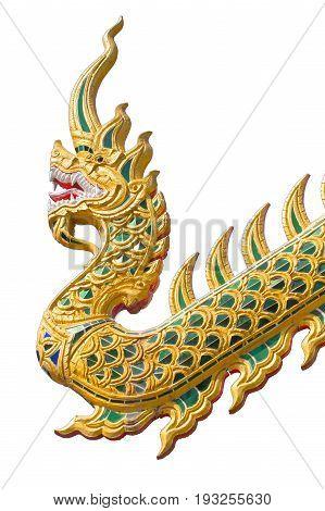 Thai dragon or Naga isolated on white