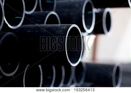 Black pipe tube HDPE potable storage pipe, HDPE pipeline.