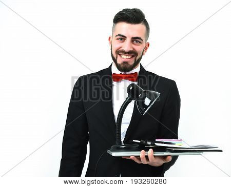 Happy Businessman Or Executive Director With Beard And Wide Smile
