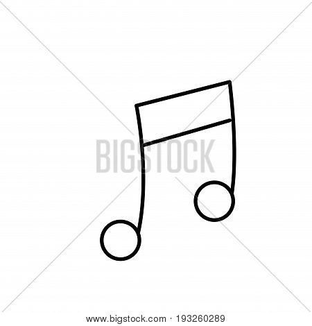 line musical note trhythm notation icon vector illustration