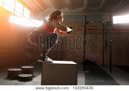 A Portrait Of Cute Girl In Gym