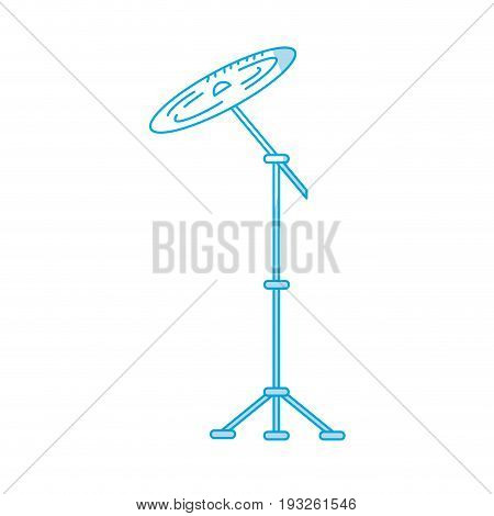 silhouette cymbal musical instrument to play music vector illustration