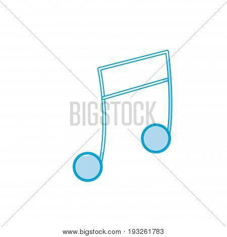 silhouette musical note trhythm notation icon vector illustration