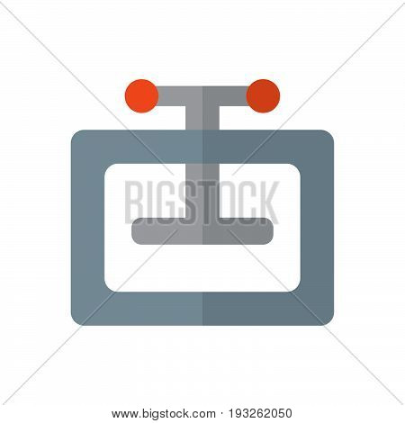 Manual press machine flat icon filled vector sign colorful pictogram isolated on white. Compress symbol logo illustration. Flat style design