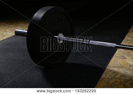 Barbell Lying On The Floor