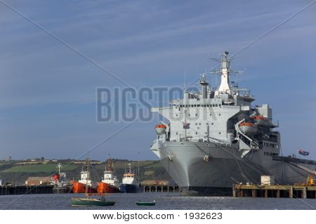 Large Ship Docked