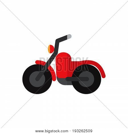 Motorbike flat icon filled vector sign colorful pictogram isolated on white. Symbol logo illustration. Flat style design