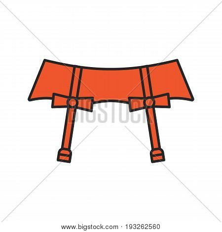 Underwear garters color icon. Isolated vector illustration