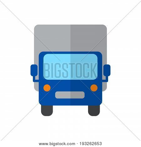 Lorry Shipping truck flat icon filled vector sign colorful pictogram isolated on white. Delivery symbol logo illustration. Flat style design