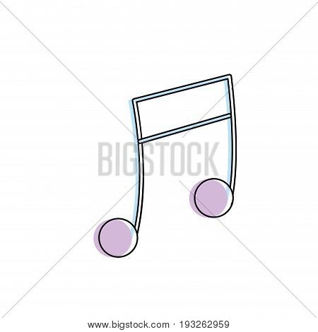 musical note trhythm notation icon vector illustration