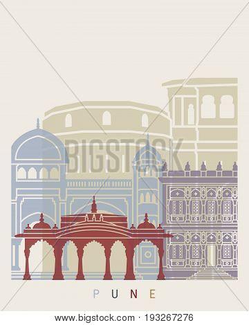 Pune Skyline Poster