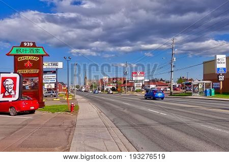 Moncton, Canada, 2017.05.30: A part of the Mountain Road in Moncton, Canada