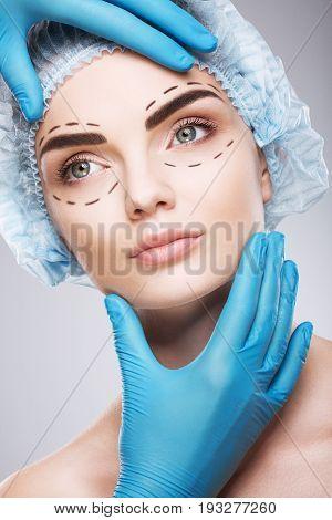 Beautiful Girl Doing Plastic Surgery