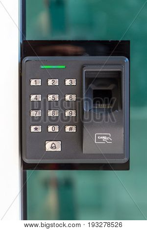 finger scan security door key lock machine.