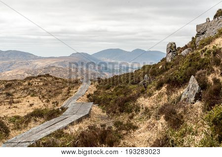 Boardwalk on Torc Mountain in Killarney National Park