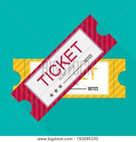 Tickets icon. Flat design. Vector illustration design