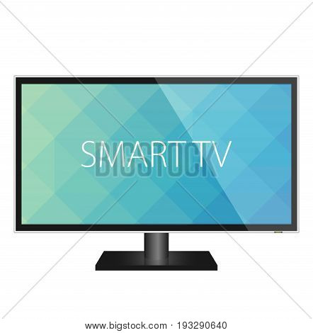 TV flat screen realistic vector illustration isolated