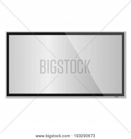 Smart Tv Mock-up, Vector Tv Screen, Led Tv Hanging On The Wall