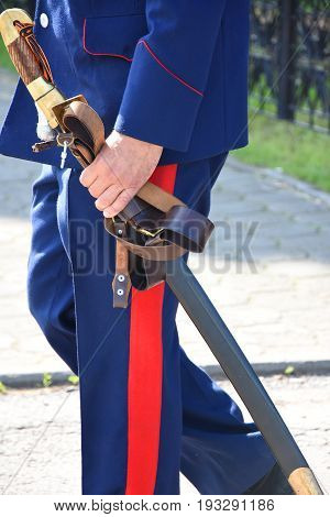 Traditional weapons of Russian Cossacks - saber