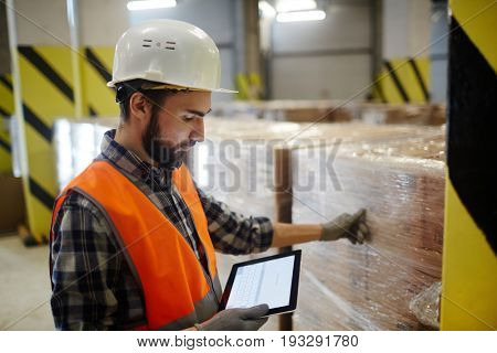 Dispatcher of storehouse looking for online data