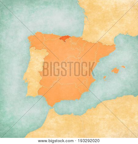 Map Of Iberian Peninsula - Cantabria