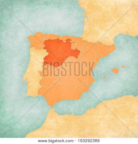 Map Of Iberian Peninsula - Castile And Leon