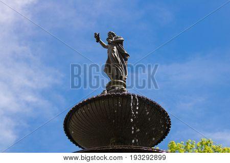 Fountain in bad gastein, austrian alps, salzburg