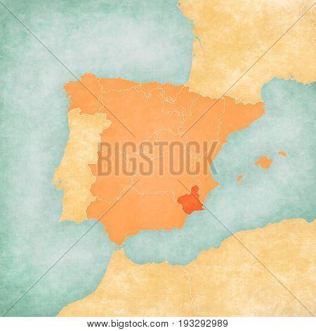 Map Of Iberian Peninsula - Murcia