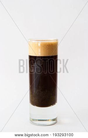 Shot Of Espresso In A Glass Isolated On White Background