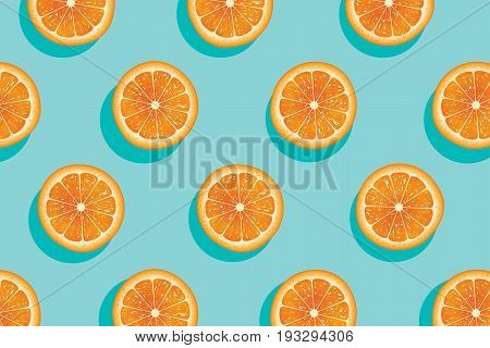 Slices of fresh orange summer background for web and print