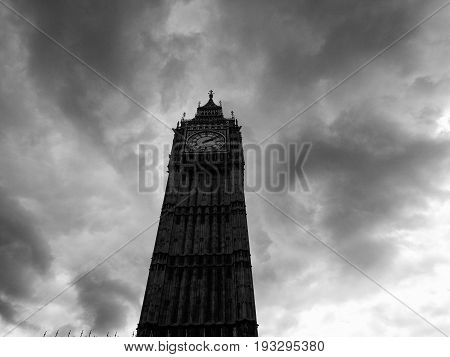 Clouds Over Houses Of Parliament In London