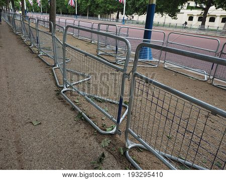 Temporary Fencing On The Mall