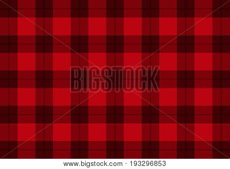 Fabric in red color vector tartan pattern