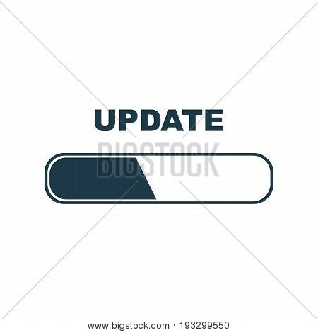 Update sign logo icon on white background