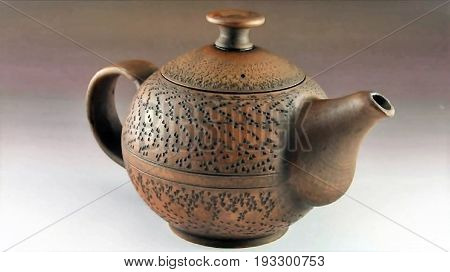 Magnificent ceramic tea-pot for brewing of delicious and fragrant tea