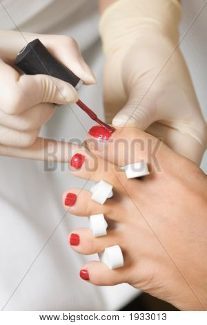 Toenail Polishing