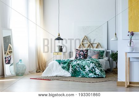 Sophisticated and homey bedroom interior design for artistic soul