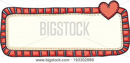 Scalable vectorial image representing a vintage love blank sign, isolated on white.