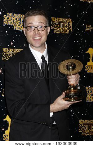 LOS ANGELES - JUN 28:  Angus MacLane at the 43rd Annual Saturn Awards - Press Room at the The Castawa on June 28, 2017 in Burbank, CA