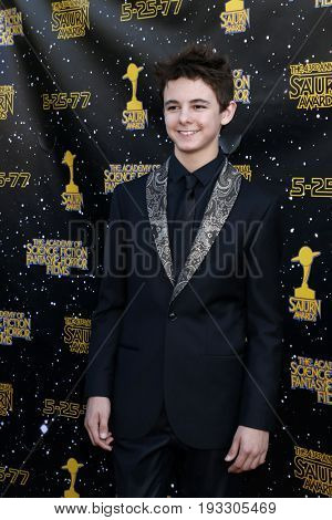 LOS ANGELES - JUN 28:  Max Charles at the 43rd Annual Saturn Awards - Arrivals at the The Castawa on June 28, 2017 in Burbank, CA