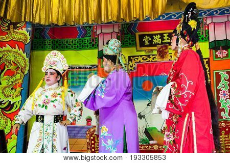 Actors Plays Traditional Chinese Opera