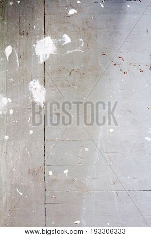 Pattern of paint peel off on old plaster with dirty, texture vertical of grunge wood wall. Scratched layer on surface of wood wall. Abstract of decayed rough for background.