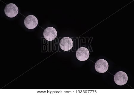 moving moon time lapse photography concept idea photography