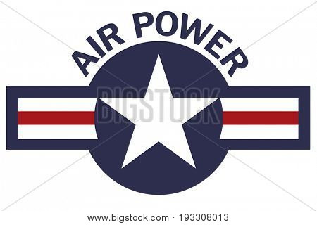 US Air Force Air Power Roundel on White Background