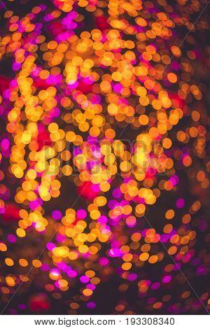 Bokeh night light circle a beautiful background.