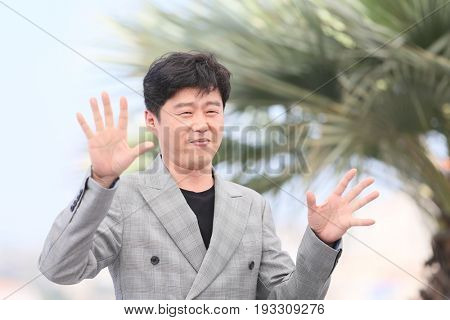 Kim Hee-won attends the 'The Merciless' photocall during the 70th annual Cannes Film Festival at Palais des Festivals on May 25, 2017 in Cannes, France.